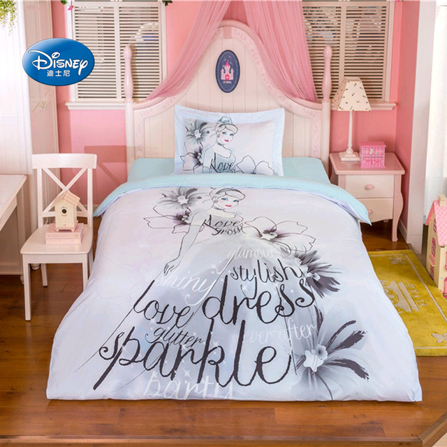 Disney Sketch Princess Bedding Sets S Children Bedroom Decor 100 Cotton Bedsheet Duvet Cover Set 3 4pcs Twin Queen Size