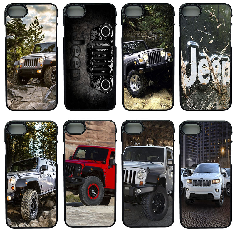Jeeps Wrangler Cell Phone Cases Hard Plastic Shell Phone Cover for iphone 8 7 6 6S PLUS X 5S 5C 5 SE iPod Touch 4 5 6 Case