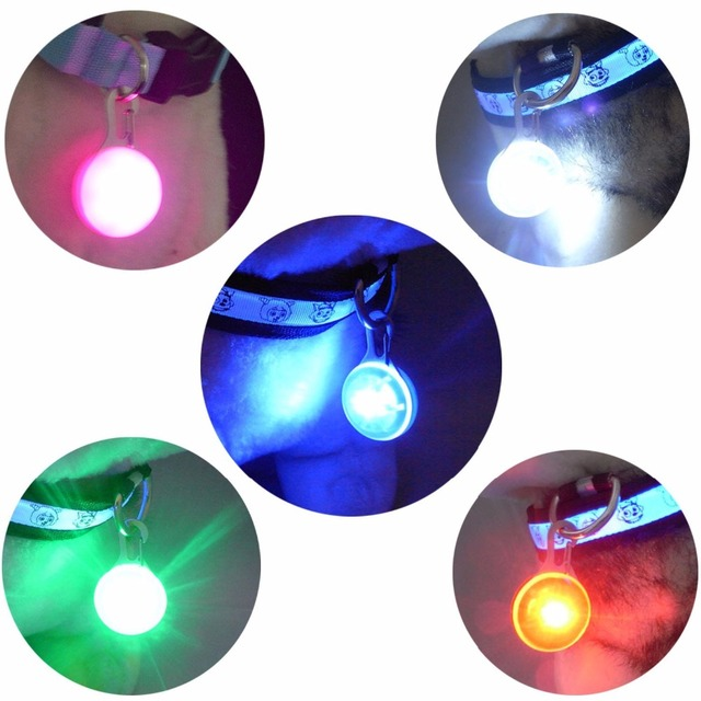 Pet Night Safety LED Flashlight Cat Dog Collar Leads Lights Glowing Pendant Necklace Pet Luminous Bright Glowing Collars in Dark 1