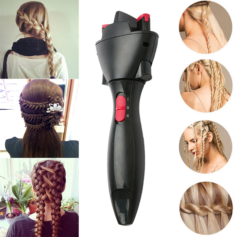 Hair Fast Styling Knotter Smart Electric Braid Machine Twist Braided Curling Iron Tool HS11