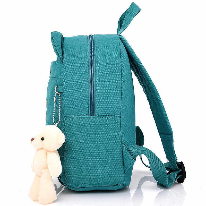 Холст Детские рюкзаки сумки для детского сада, школы рюкзаки для маленьких мальчиков и девочек детские милый рюкзак Mochilas