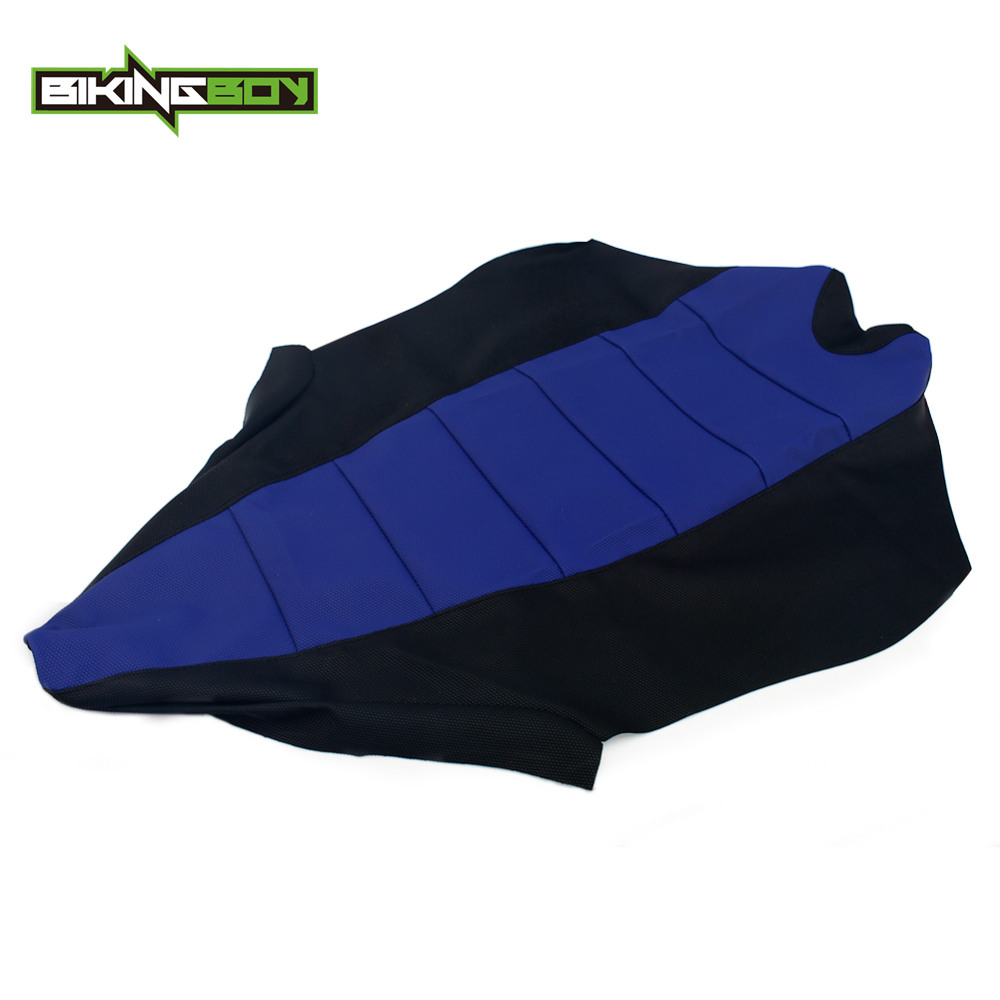 BIKINGBOY ATV Seat Cushion Cover For YAMAHA YFZ450R 2009 2010 2011 YFZ 450 R PVC Gripper Soft Ribbed Replacement Quad Accessorie