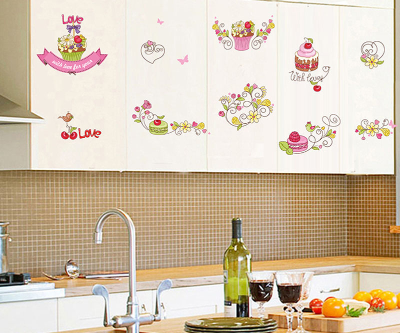 Popular kids cupcake decorating buy cheap kids cupcake for Kitchen cabinets lowes with wall sticker art for kids