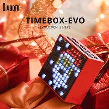 цены Divoom Pixel Timebox Evo Art Speaker Portable Speaker Wireless Bluetooth LED Screen Alarm Clock With App For IOS Android System