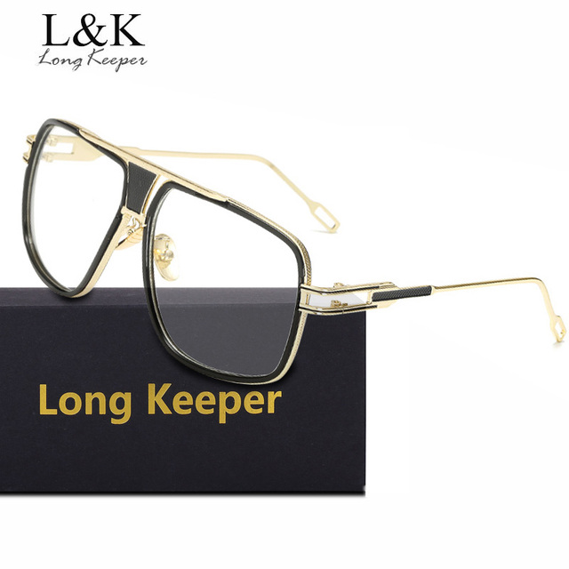 Long Keeper Big Square Eyeglasses Frame Women Men Original Clear ...