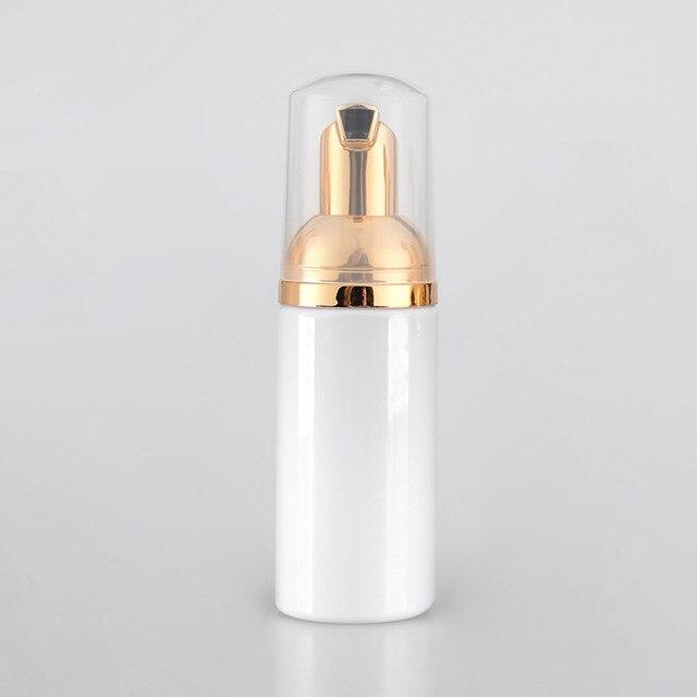 1 יחידות\חבילה ריק 30ml 60ml קוסמטי פנים לאש ניקוי לשטוף קרם פלסטיק לבן נוזל סבון מסיר קצף בקבוק זהב קצף משאבת
