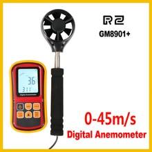 Anemometer GM8901 Gauge Instrument Measure Digital Wind-Speed Air-Flow Lcd-Display Temperature
