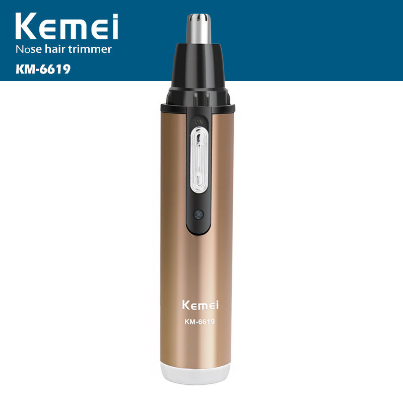 Kemei Electric Shaving Nose Hair Trimmer Washable Rechargeable Safe Face Care Shaving Trimmer For Nose Trimer