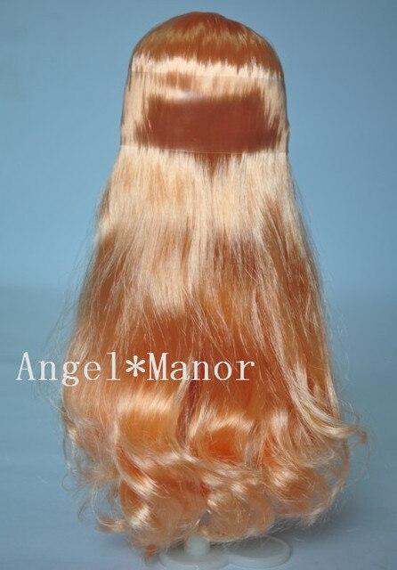 blyth scalp,scalp with hair for Blyth,  not doll,  light orange  long hair,  For Girl's Gift   TP004