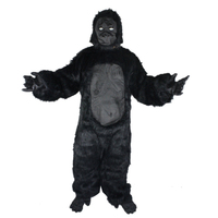 2017 Cosplay Halloween Costume Chimpanzee Clothes Ape Man Costume Adult Gorilla Dress