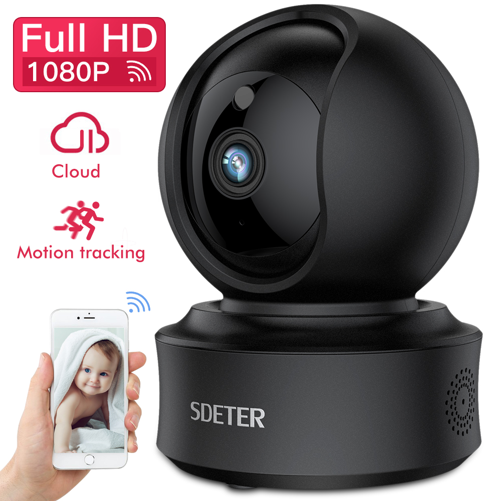 SDETER 1080P Wireless IP Camera Security Camera Wifi Support YI Cloud Pan Tilt Zoom IR Night