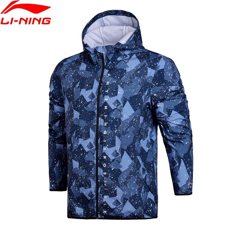 Li-Ning Для мужчин тенденции ветровка с капюшоном Regular Fit в доказательство смарт-толстовка быстросохнущая Водонепроницаемый внутри спортивное...