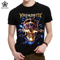 Punk Youth 2016 Men's Shirt Cool Skull Megadeth Print Heavy Metal Rock Roll Pop Clothing Men Tee T Shirt Black T-Shirt T Shirt