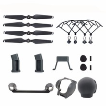 6PCS Accessories Kit For DJI Mavic Pro, Quick Release Propeller Prop Guards Landing Gear Lens Hood Remote Joystick Lens Cap