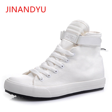 цена на Men High Top Shoes Breathable Mens Canvas Shoes Casual 2019 Spring/Autumn Fashion New Outdoor Lace-up mens trainers Men Flats