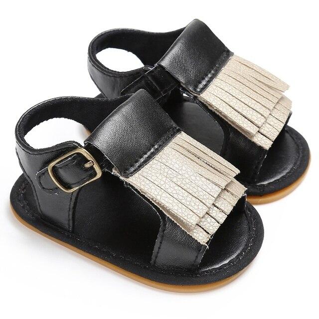 summer baby child kids tassel sandals shoes pink gold silver