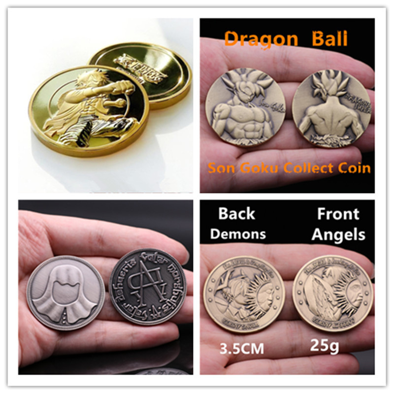 Hot Anime Game Movie Super Collect Coin 3D Dragonball Game Of Thrones One Piece Zelda The Avengers SHIELD Cosplay Badge Gift