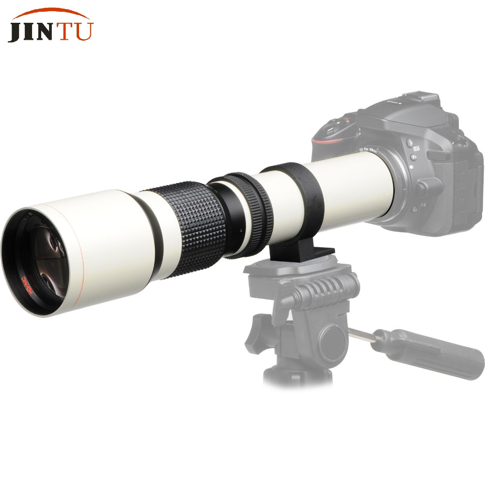 JINTU White Power 500mm f/8.0 f8 Telephoto Zoom Manual Focus Lens + T-Mount for SONY NEX A58 3 /A7/A7R A3000 A6000 HX300JINTU White Power 500mm f/8.0 f8 Telephoto Zoom Manual Focus Lens + T-Mount for SONY NEX A58 3 /A7/A7R A3000 A6000 HX300