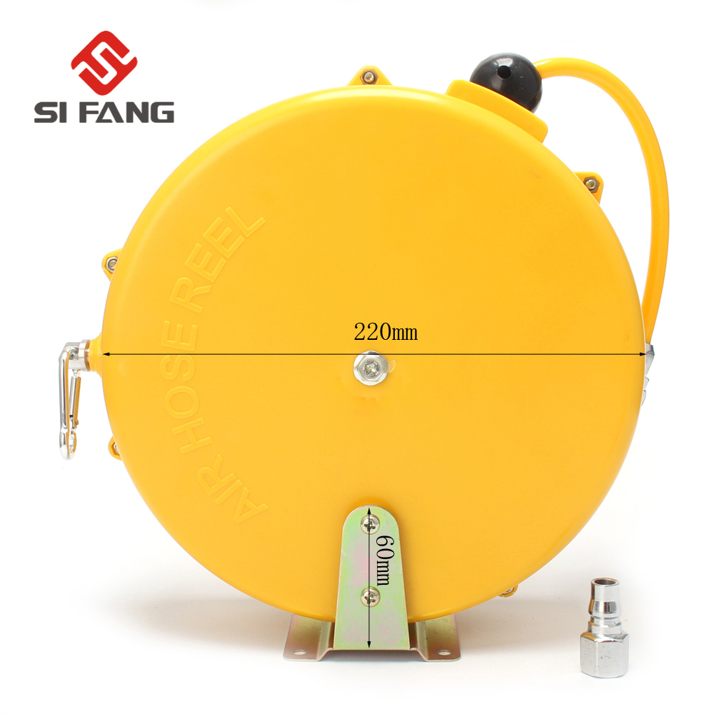 8M Automotive Air Hose Reel Pneumatic Hose PU Tube OD 8MM ID 5MM Automatic Retractable Reel Telescopic Drum Hose