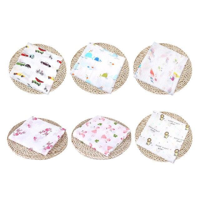 Baby Blanket Puseky Newborn Cotton Fruit Plant Animal Soft Muslin Swaddle Shower Bath Towel Blanket Wrap Cloth Bedding Cover