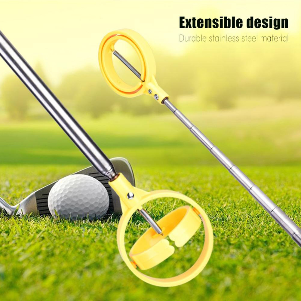 Non Slip Outdoor For Golf Ball Retriever Sports Portable Locking Wear Resistant Practical Telescopic Retract Catching Easy Use