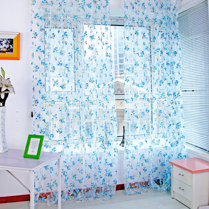 95200cm elegant flower screens retro curtains the garden pavilion for the living room in curtains from home garden on aliexpresscom alibaba group - Retro Curtains
