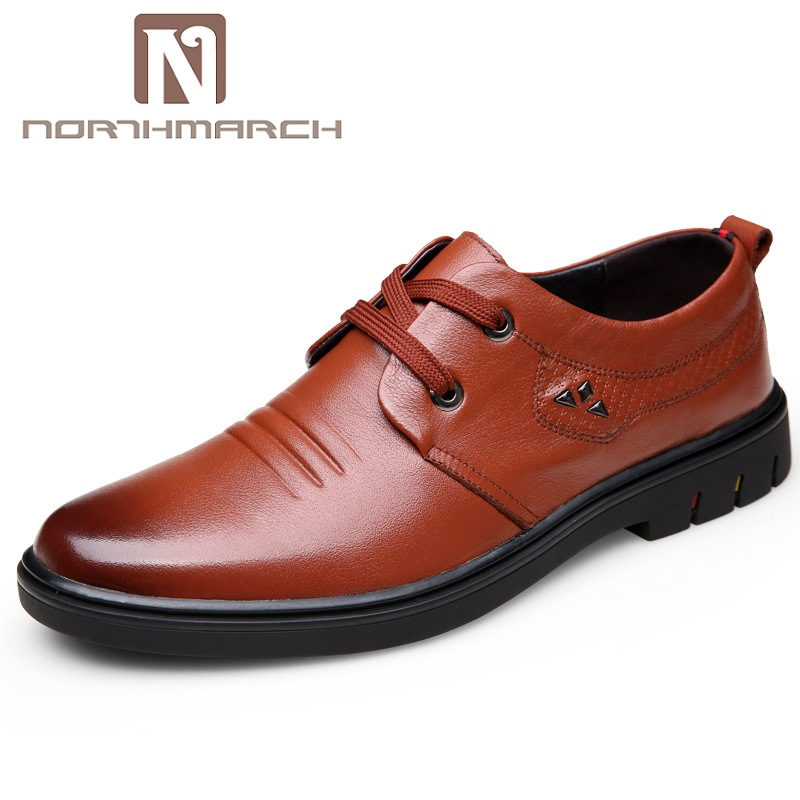 NORTHMARCH Spring/Autumn Fashion Men Shoes Genuine Leather Men Dress Shoes Brand Luxury Men's Business Casual Shoes Man vesonal 2017 brand casual male shoes adult men crocodile grain genuine leather spring autumn fashion luxury quality footwear man