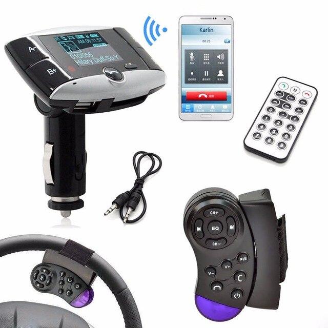Pantalla 1.5LCD Reproductor de MP3 Del Kit Del Coche de Bluetooth FM Del Modulador Del Transmisor SD mmc usb con control remoto de carga usb para iphone para ipad # ed
