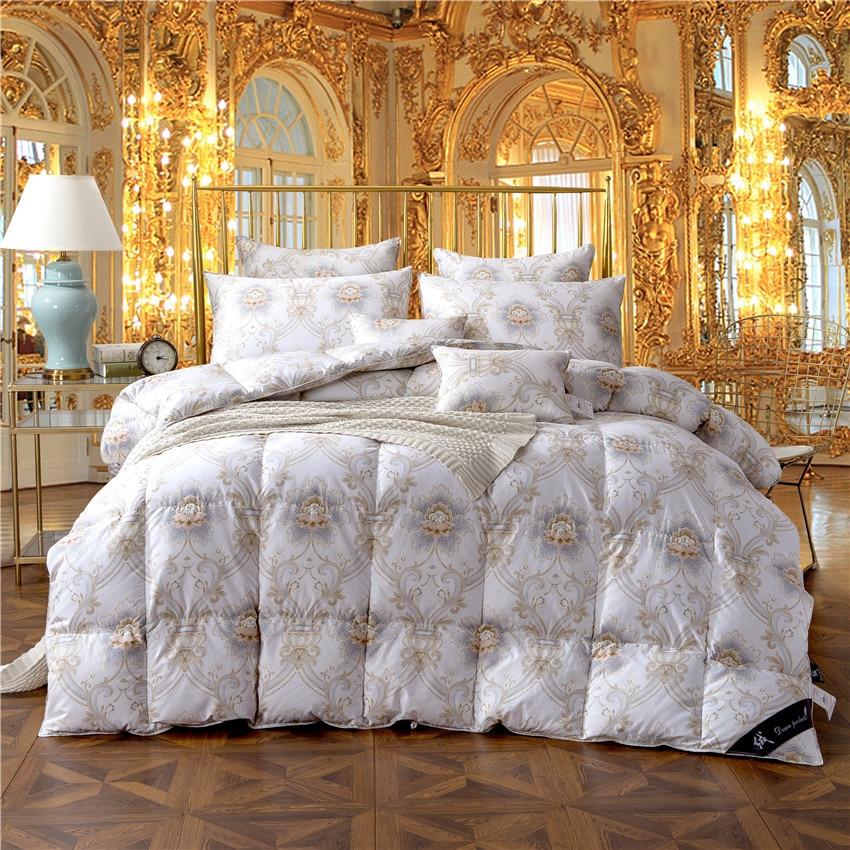 King Queen Twin ขนาด 100% Goose Down ผ้านวมคลุมเตียง Filler ชุดผ้านวมโยนผ้าห่มสำหรับเด็กผู้ใหญ่-ใน ผ้ารองผ้าห่มและผ้านวม จาก บ้านและสวน บน   1