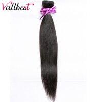 Vallbest Brazilian Virgin Hair Extension Human Hair Bundles 1B Natural Black Brazilian Straight Hair Weave Can