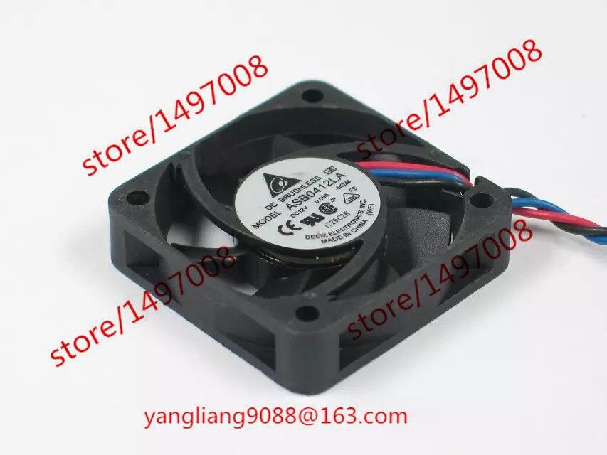 Delta ASB0412LA BQ28 DC 12V 0.06A 40X40X15mm Server Square Fan  3-wire free shipping for delta afc0612db 9j10r dc 12v 0 45a 60x60x15mm 60mm 3 wire 3 pin connector server square fan