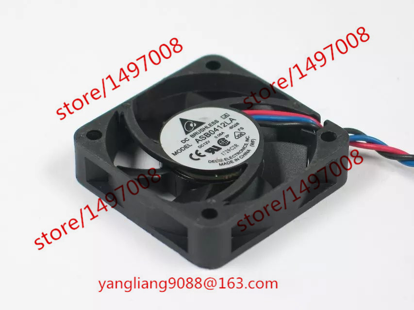 Free Shipping For Delta ASB0412LA, -BQ28 DC 12V 0.06A 3-wire 3-Pin connector 70mm 40X40X15mm Server Square Cooling Fan free shipping for delta aub0512lb cp54 dc 12v 0 11a 2 wire 2 pin connector 70mm 50x50x15mm server square cooling fan
