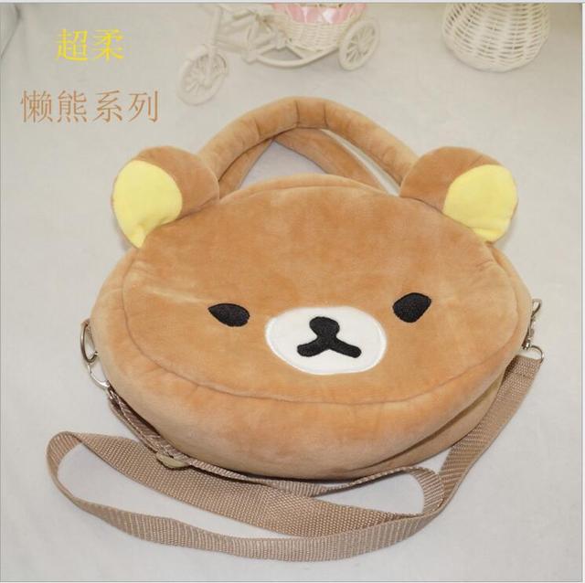 665e8cf8d0d8 Rilakkuma Cute Big Bag Handbag Messenger shoulder Bag plush Relax brown bear