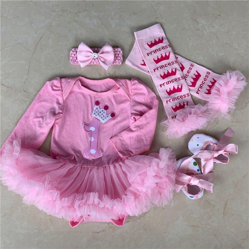 Bébé Fille Minnie Mouse 1st ou 2nd Anniversaire Tenue Robe Tutu Set