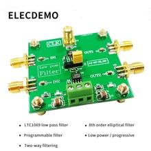 LTC1069 Module 8th order low pass filter Progressive Ellipse filter 2-Way Output  External clock Control Module demo board цена