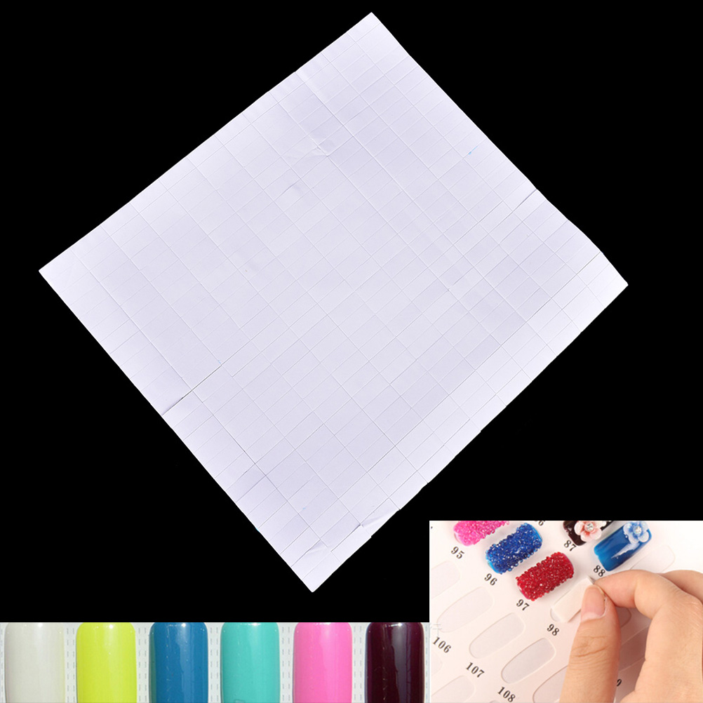 260pcs Sponge Double-sided Adhesive Fixing Sticker Nail Art Transfer Foil Women Nail Gel Decoration Manicure Tool