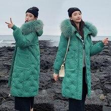 2019 Fur Collar Winter Jacket Women Thicken Embroidery Long Parka Female Winter Coat Women Down Cotton Lady Wadded Jacket Hooded стоимость