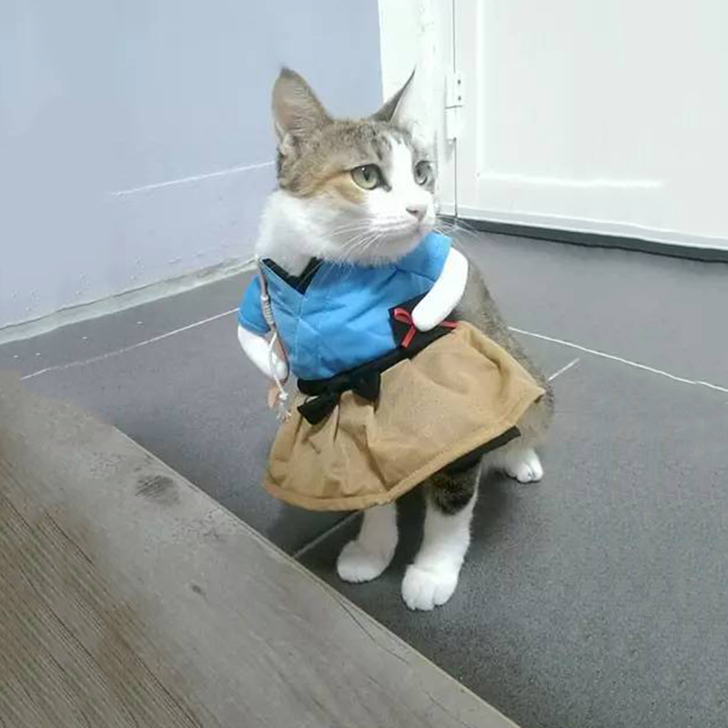 Pet Dog Cat Costume Suit Clothes Funny Dress Up Clothing Party Interesting Transfiguration Pet Cat Dog Funny Cosplay Clothes New