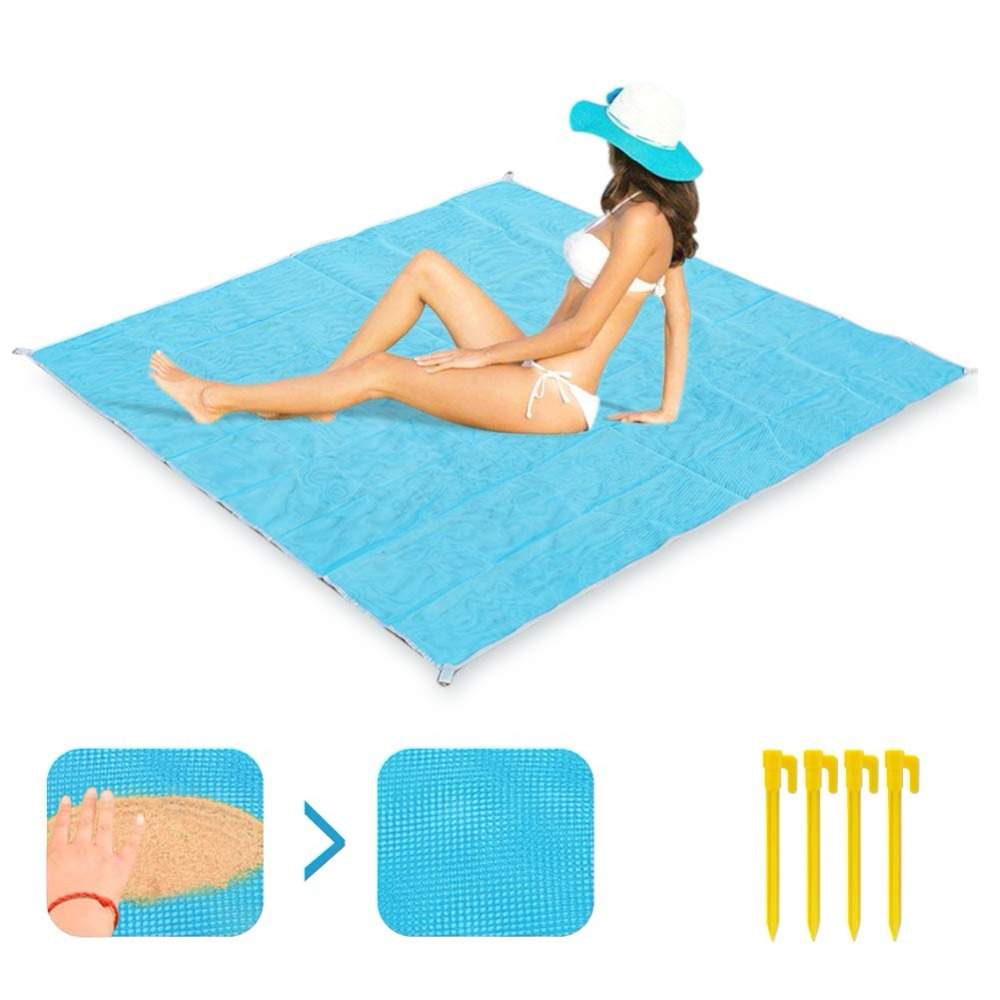 Camping & Hiking Dropshipping Sand Free Beach Mat Blanket Sand Proof Magic Sandless Cover Sandfree Picknickdecke Picknick Manta Travel Mats