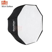 Godox 80 cm/31.5in universal pro estúdio foto flash speedlite softbox guarda chuva refletor para canon nikon sony yongnuo speedlight