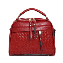 2017 New Women Bags Weave Tassel PU Leather Handbags Women Shoulder Knitting Bag Ladies Casual Women Messenger Bags