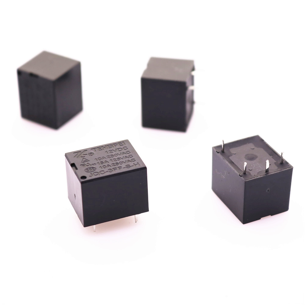 Wholesale Electronic Products 4pcs / Lot <font><b>T73</b></font> <font><b>Relay</b></font> 12v Normally Open 10a Small <font><b>Relay</b></font> image