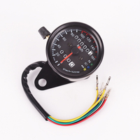 Motorcycle Dual Odometer Speedometer Gauge LED Backlight Signal Light Universal Digital Speedometer Free Shipping