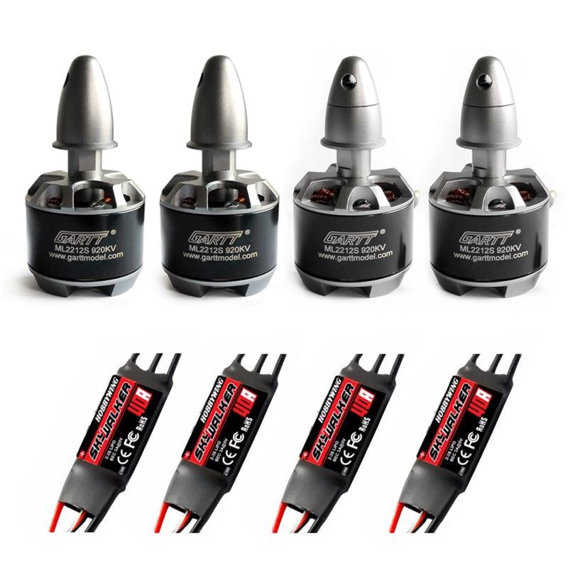 Gartt 2 pcs cw 2 pcs ccw ml2212s 920kv 230 w 2212 s brushless Outrunner RC Quadcopter Moteur + 4 pcs 2-3 S 40A SKYWALKER ESC RC Drone