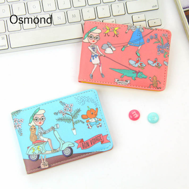 Osmond Woman Cute Cartoon Business Card ID Holders Wallet Funny ...