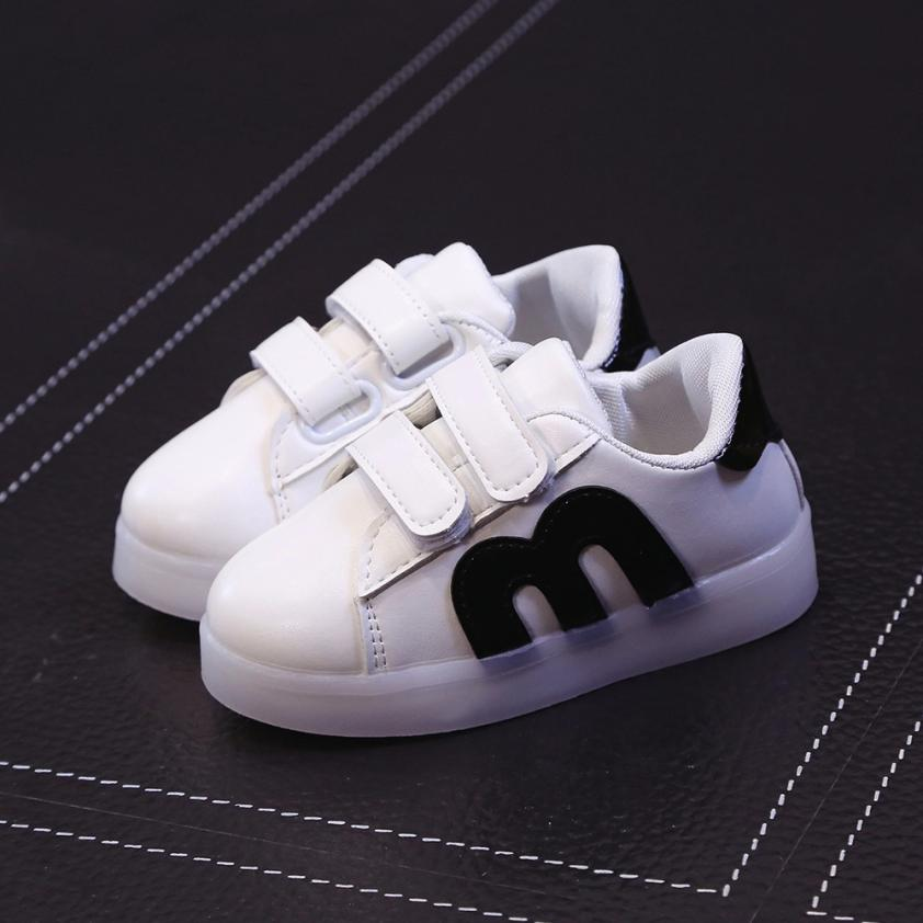 277175cc413 Toddler Kids Skate Shoes Children Baby Shoes LED Light Up Luminous Sneakers  100% brand new and high quality Great gift to baby