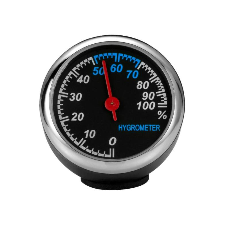 Mini Car Automobile Hygrometer Auto Automotive Thermometer Hygrometer Decoration
