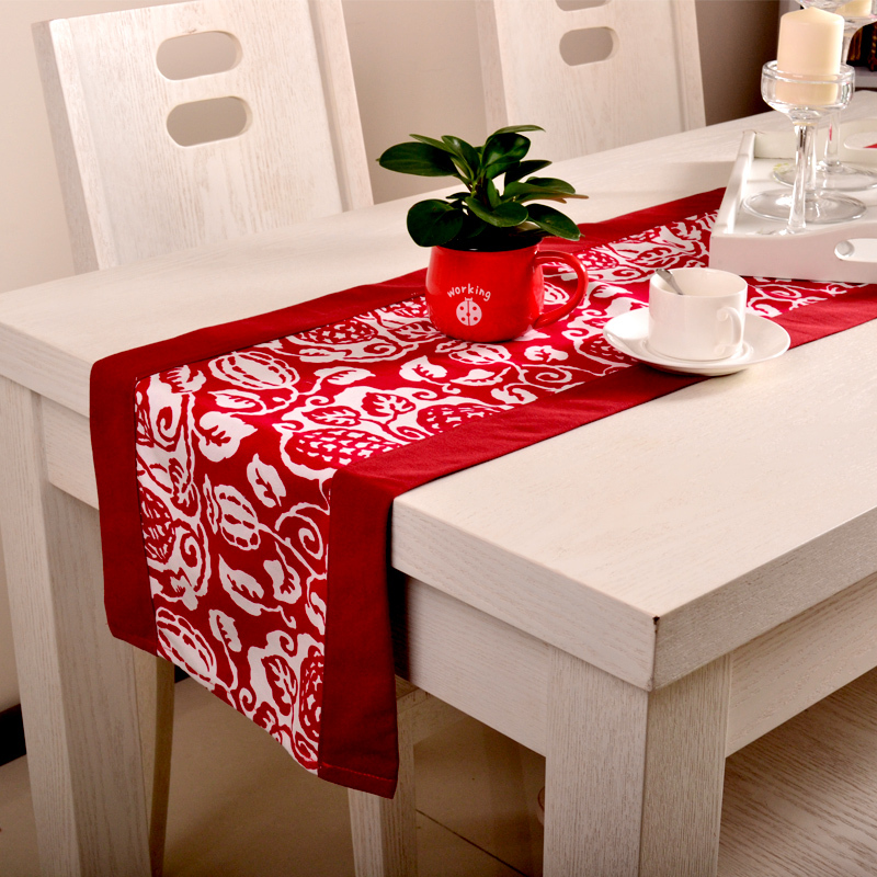 Wholesale christmas table runner long wedding reception for Asian wedding bed decoration