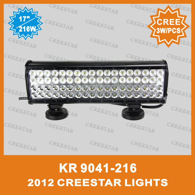 216w high performance led light bar 17inch auto led bar lights for 4wd 4x4 Truck IP67 18000Lumens KR9041-216 Led work bar lights truck led ramp 36w led light bar with ip67 waterproof rate