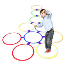 Preschool Teaching Aid Sports Toy Hopscotch Jump To The Grid Children Sensory Integration Training Outdoor Fun Games Toys Circle(China)